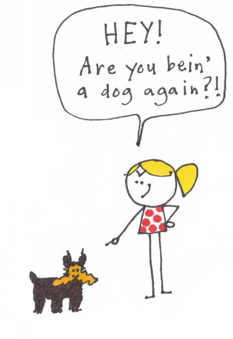 every time i turn around, Ein's bein a dog
