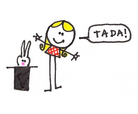 alls you gotta do is put a rabbit in a hat and - abracadabra! - magic!