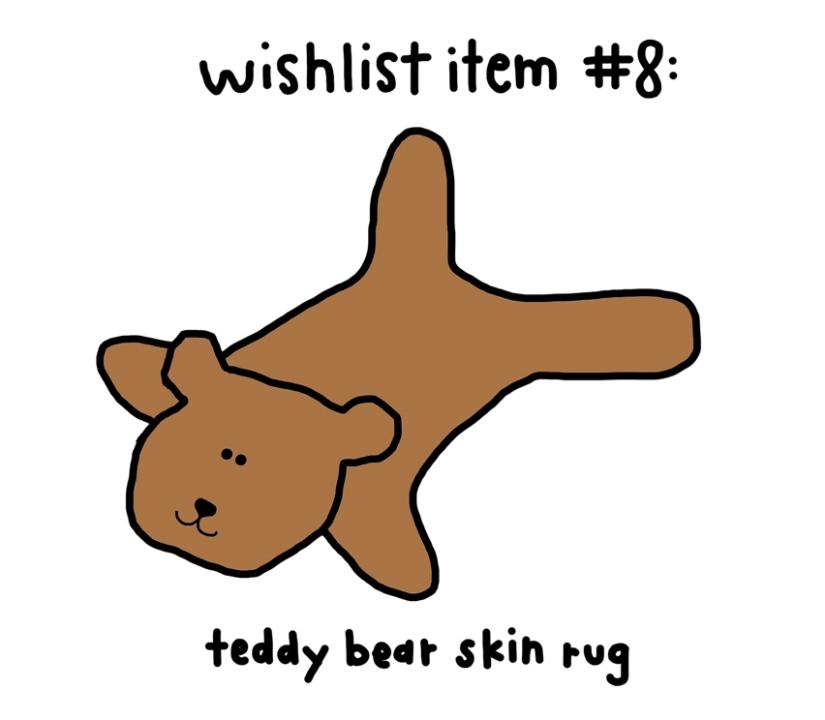 cocoa-wish-list-teddy-bear-skin-rug